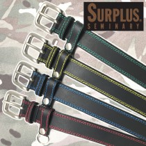 SURPLUS 40mm幅 キーホルダ付カラーステッチベルト SP4019