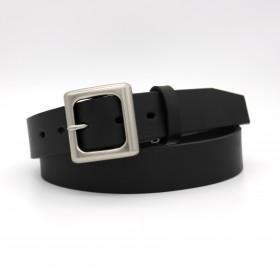 ブラック 35mm幅タンニンなめし1枚革ベルト